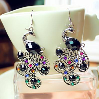 1a88f093e1c549 2019 SHUANGR Drop Peacock Earrings Dangle Long Colorful Crystal Earring  Fashion Jewelry For Women 2016 New Arrival Accessories From Goodle_co_ltd,  ...