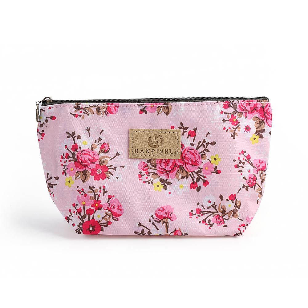 df5e4a308e Women Cosmetic Bag Vintage Floral Printed Makeup Bags Multicolor Pattern  Cute Cosmetics Pouchs For Travel Ladies Make Up Pouch Cosmetic Stores  Cosmetic ...