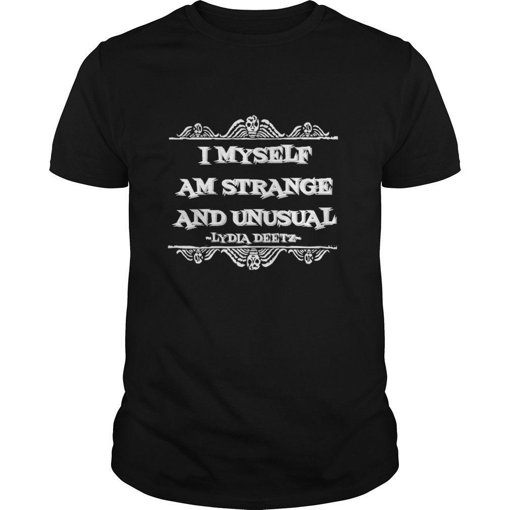 Beetlejuice Quote T Shirt I Myself Am Strange And Unusual Tim Burton