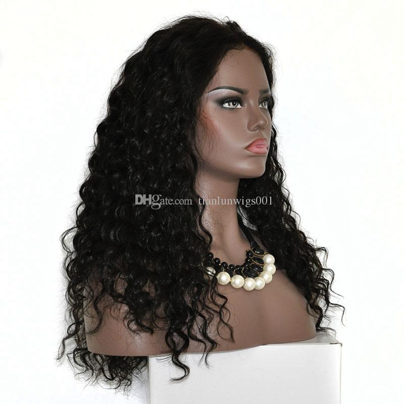 9f1d7ed8e27 150% density 18 inch cheap human hair full lace wig, remy human hair lace  wig for black women, 100% natural brazilian human hair