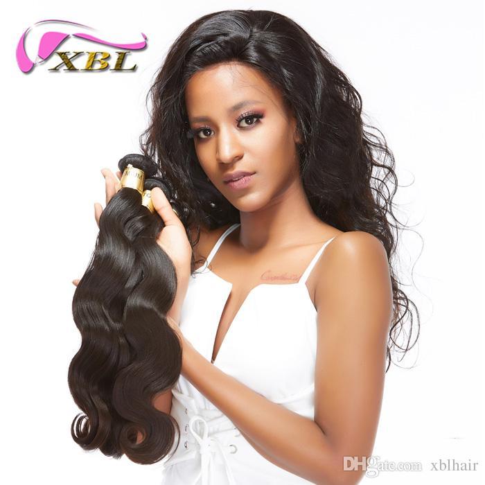 Fasci di capelli brasiliani di XBL allentati dell'onda corporea Tessuto di vendita caldo vergine Trama non trattata di estensioni dei capelli del Virgin