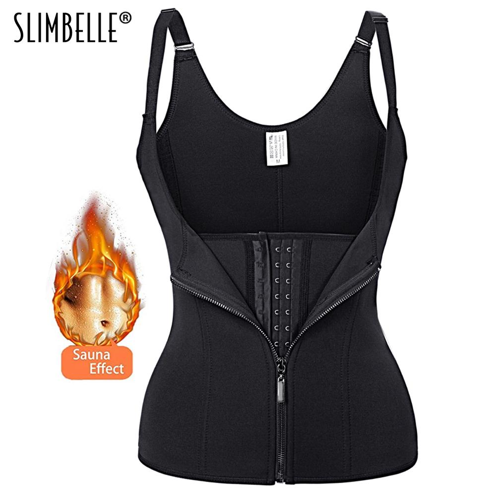 b7e7e862a4f Hot Shapers Women Black Neoprene Zipper Waist Trainer Corset Push Up Vest  Sweat Sauna Tummy Belly Girdle Waist Cincher Shapewear UK 2019 From  Florence33