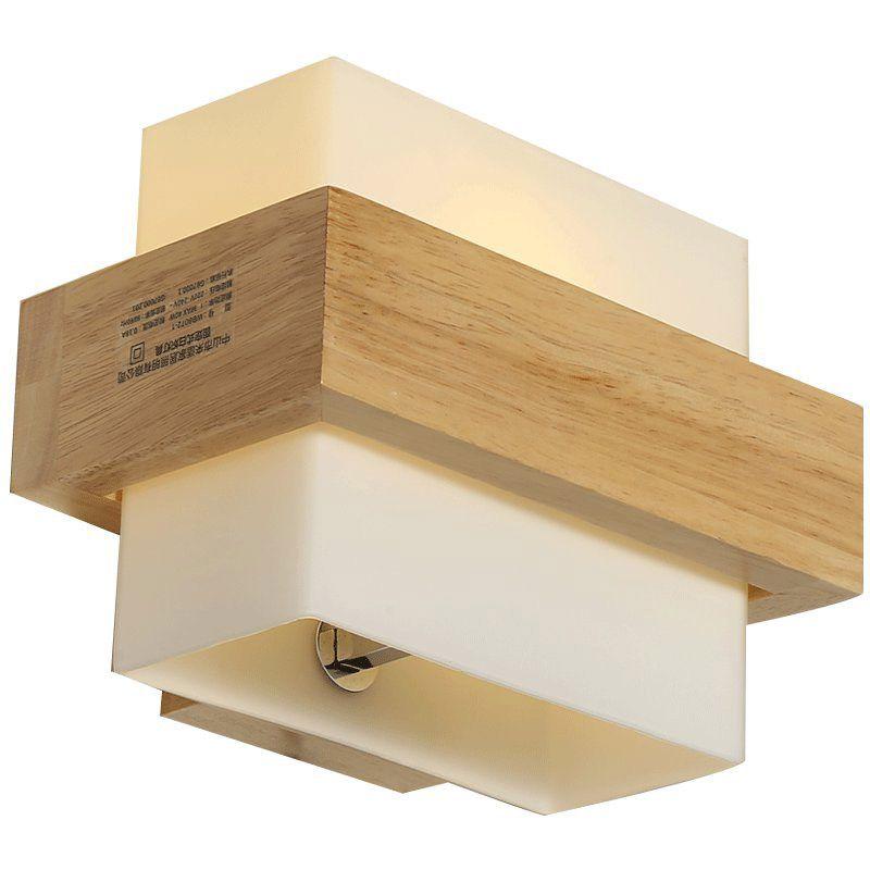 Großhandel Chinesische Holz Glas Schlafzimmer Bedside Wandleuchte ...