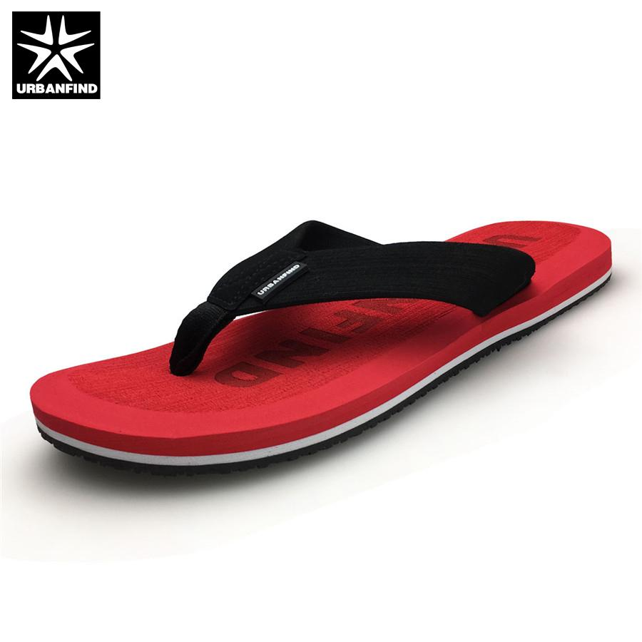 8d14d9a69 URBANFIND Beach   House Men Casual Flip Flops Big Size 41 46 Brand Fashion  Man Beach Slippers Summer Shoes Red Khaki Grey Boots Boots Shoes From ...