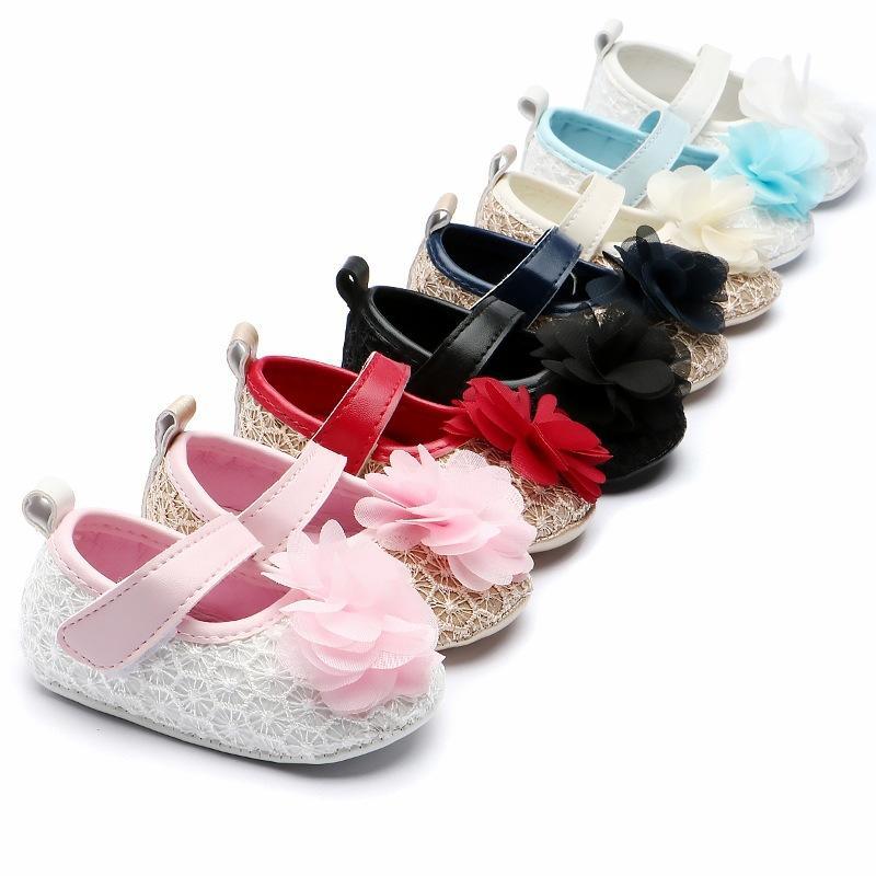 6dd30838516c 2019 Baby Girl Newborn Shoes Spring Autumn Sweet Mary Jane Flower Knitted  Dance Ballerina Dress Pram Crib Shoe From Universecp