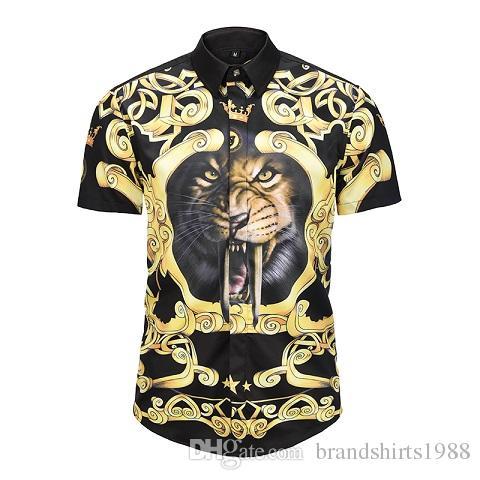 9d784df13ae9 NEW Italian Luxury Brand Men Dress Shirt D6013A Slim Fit Male Short ...