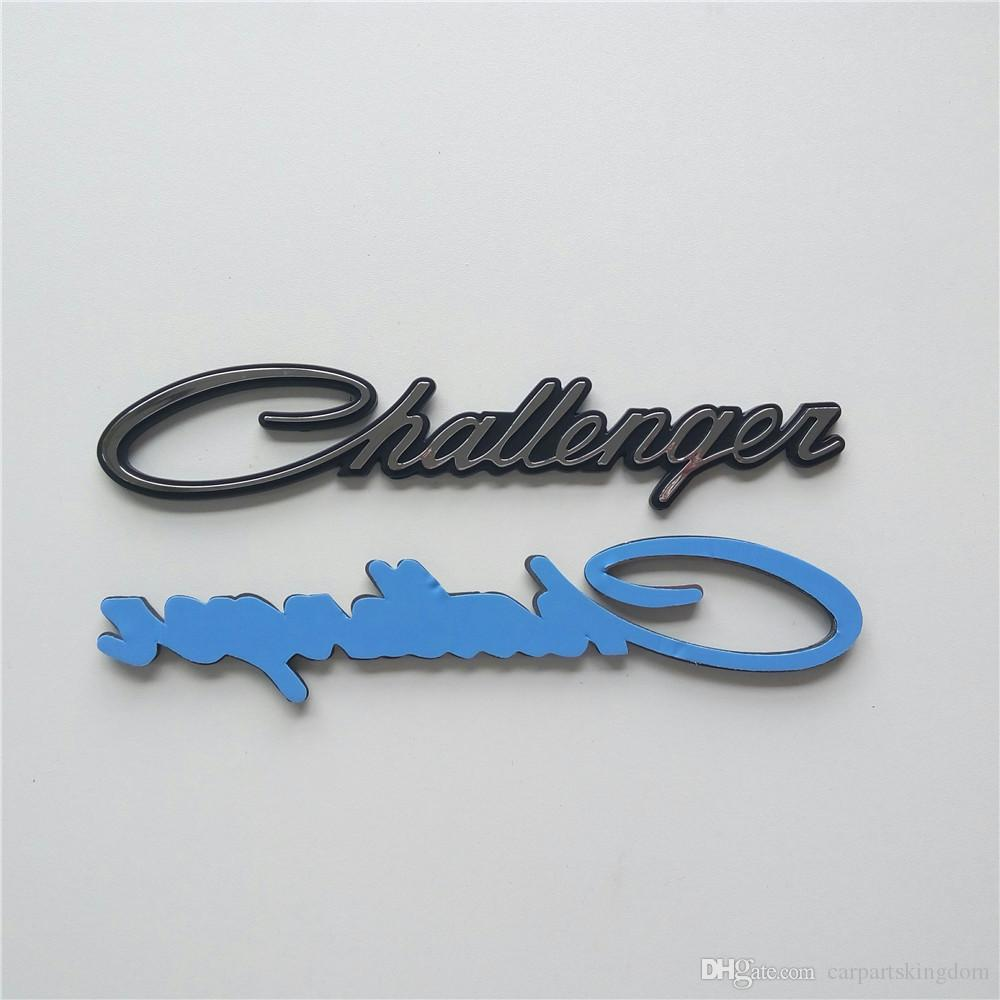 1 PCS CLASSIC Script Custom Chrome and black Challenger Car emblem badge sticker nameplate logo For Dodge
