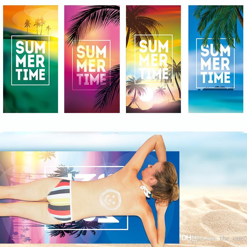 Toalha de Praia de Viagem Ao Ar Livre Sunshade Aptidão Toalhas de Natação Da Árvore de Coco SPA Yoga Yoga Secagem Rápida Absorvente