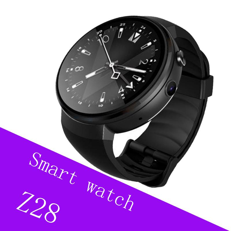 647711d077468a 2018 GPS smart watch Men Z28 Android 7.0 1GB+16GB smartwatch Heart rate  support WiFi Nano SIM card 4G smart watchs for iPhone