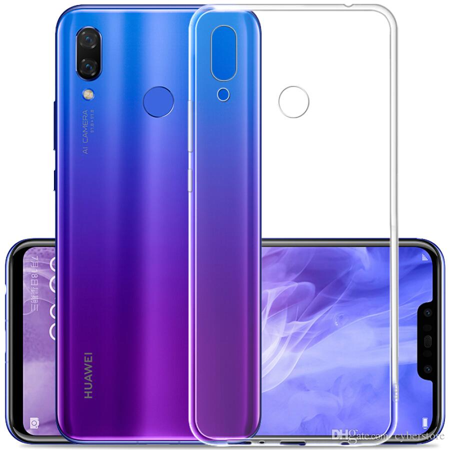 For Huawei P20 Lite P10 plus Transparent Clear TPU Gel Phone Soft Back Case  Cover For Honor 8 9