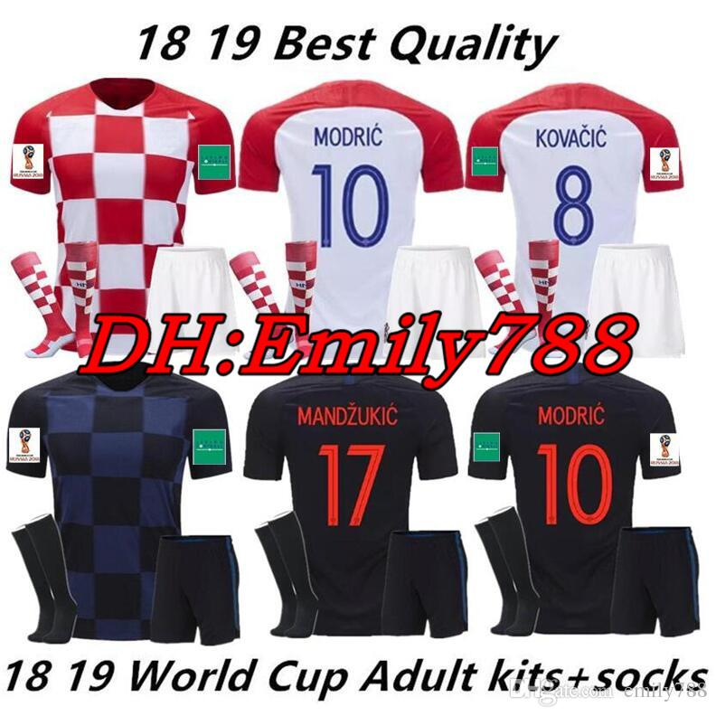 f272e28b1cc 2018 Designed for Home Adult Kit +Socks Soccer Jersey MODRIC PERISIC ...