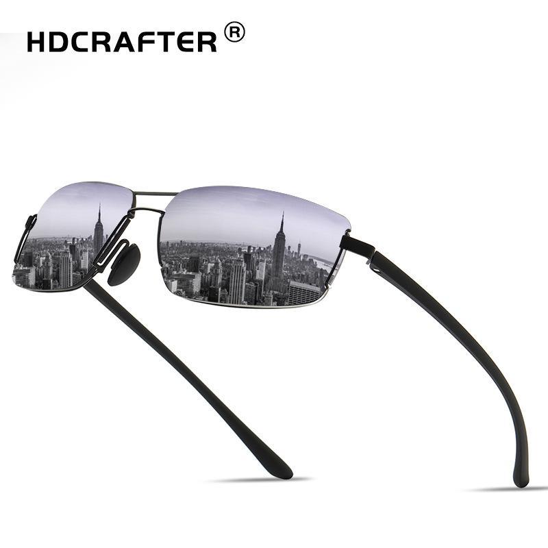 81c6a70e8a HDCRAFTER Polarized Sunglasses Men 2018 Vintage Rectangle Male Sun Glasses  Mens Driving Shades UV400 Glasses Lunettes De Soleil Designer Glasses  Sunglasses ...