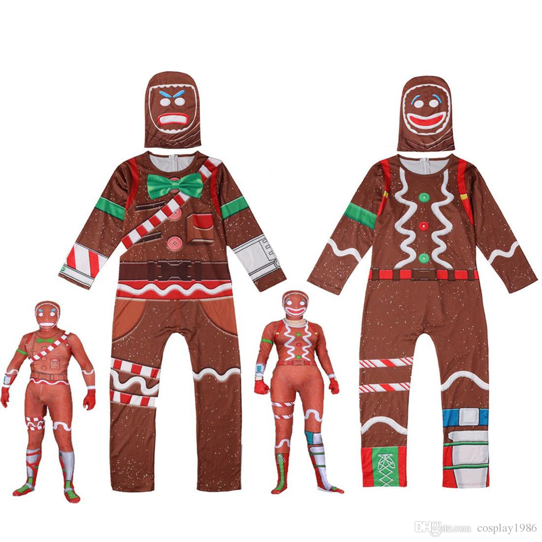 2019 halloween cosplay merry marauder ginger gunner cartoon costume party kids boys men jumpsuit zentai bodysuit catsuit mask outfits from cosplay1986 - gingerbread costume fortnite