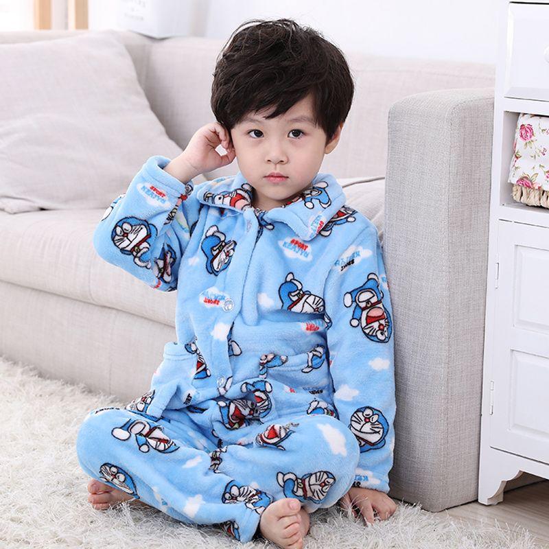 Pijamas Kids Pijama Set Coral Fleece Baby Boy Girl Printing Pajamas  Children Flannel Sleepwear Infant Pajamas Warmed For Winter Cheap Pjs For  Kids Cotton ... 6dbb14c1a