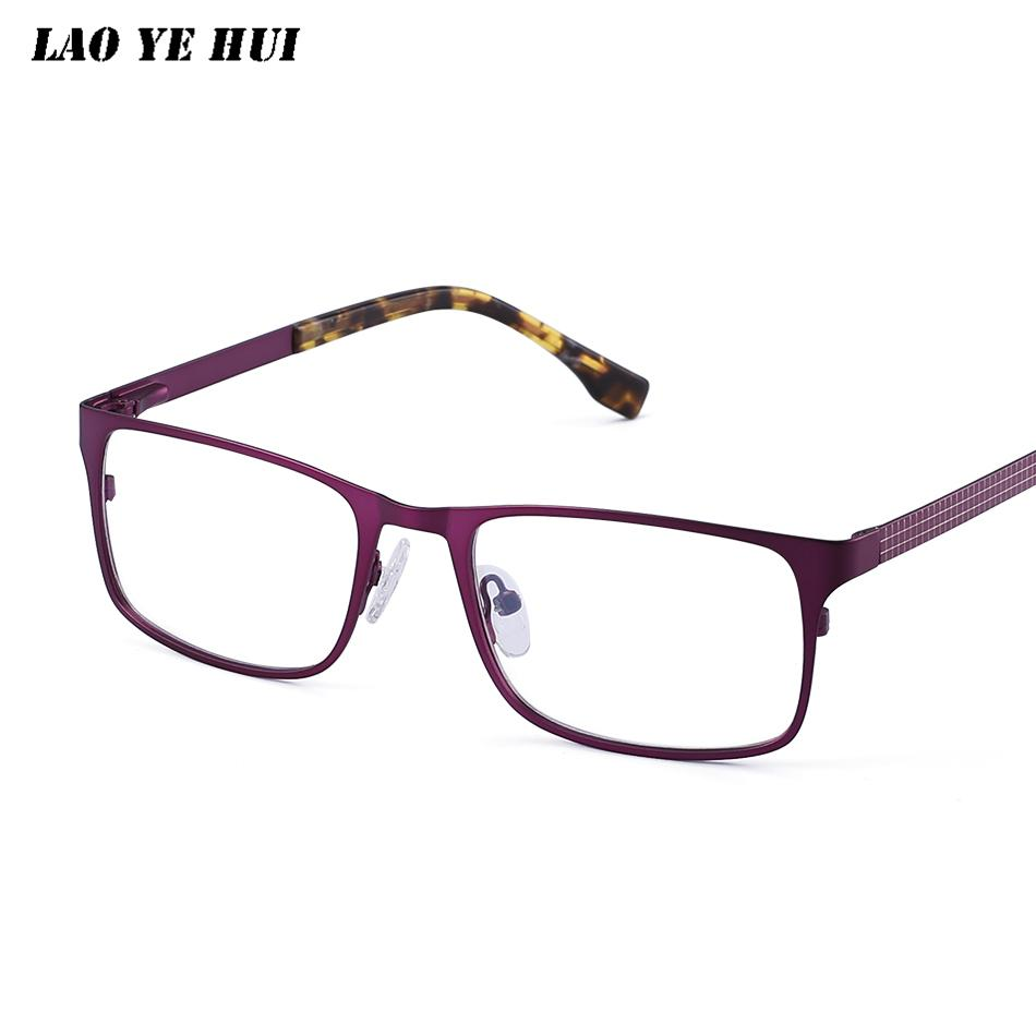 a7a286c9ec 2019 LAO YE HUI Fashion Woman Full Rim Eyeglasses Frame Brand Designer  Business Men Frame AC Glasses With Alloy On Legs CR7003 From Frenky