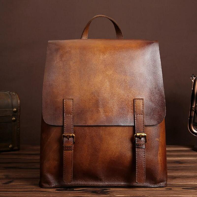 611041d28d75 Genuine Leather Men Bag Men Backpack Fashion Male School For Teenage Backpack  Cow Leather High Quality Travel Bag Japanese Style Backpacks Bags From  Bking