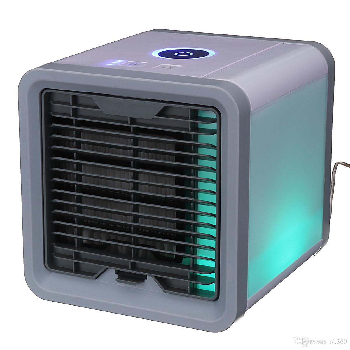 2018 Led Air Cooler Arctic Personal Space With Light Quick Easy Way To Cool Any Conditioner Home Desk Novelty From Ok360