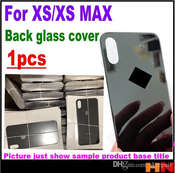 pretty nice b1389 bdd15 1pcs High quality For iPhone XS XS max Back Battery Cover Rear Glass  Housing Case Repair Replacement Part holders