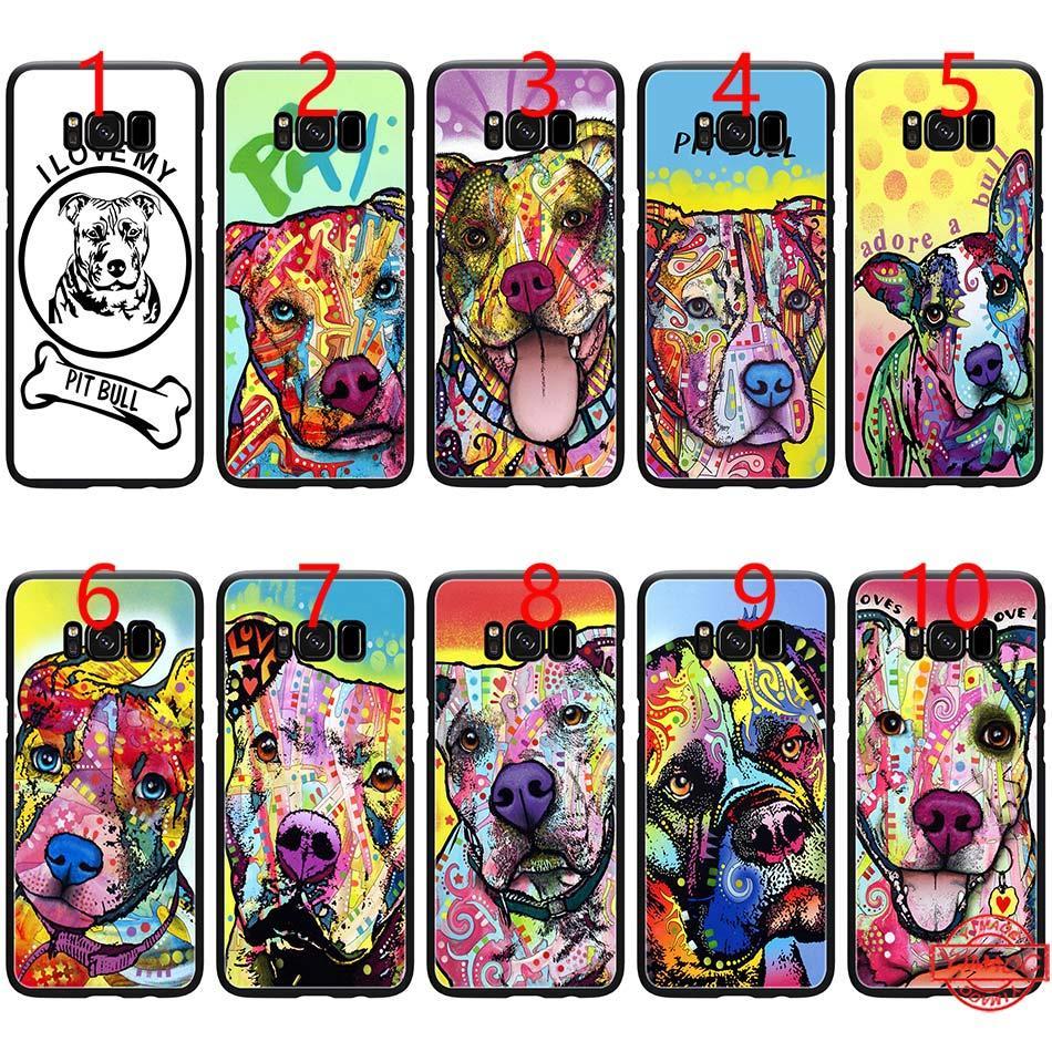 Beware of pitbull art dog PIt Bull Soft Black TPU Phone Case for Samsung  Note 9 8 S8 S9 Plus S6 S7 Edge Cover
