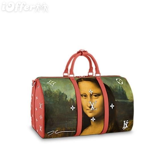 e9ee3e13f8bb Luggage Kepall 50 M43377 Da Vinci Jeff Koons Mona Lisa Women Handbags  Shoulder Messenger Bags Totes Iconic Cross Body Bags Top Handles Womens Bags  Wholesale ...