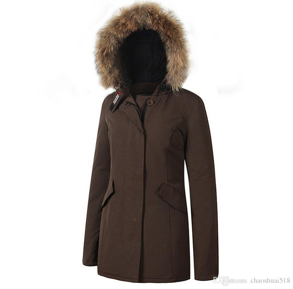 Mode Woolrich Frauen Arctic Anorak Daunenjacke Frau Winter Gänsedaunen 90% Outdoor Dick Parkas Mantel Warme Outwear Jacken
