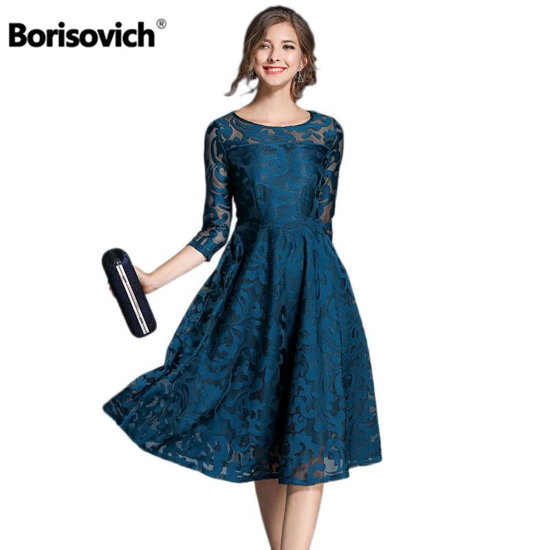 073c7d9f40e 2019 Borisovich New 2018 Spring Fashion England Style Luxury EleSlim Ladies  Party Dress Women Casual Lace Dresses Vestidos M107 From Candice98