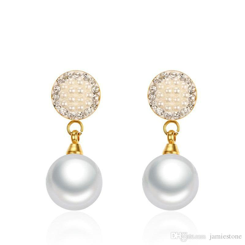 115121f03 2019 Wholesale China Factory 316L Stainless Steel Jewelry Pearl Earrings  Flower Stud ED 098G From Jamiestone, $3.12   DHgate.Com
