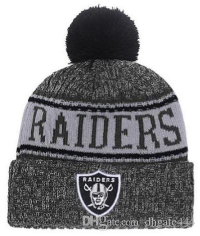 2019 Winter Raiders Beanie Sideline Cold Weather Graphite Sport Knit Hat  Knitted Wool Adult Bonnet Warm Official Reverse Cap Black Beanie From  Dhgate444 8b96f01be59