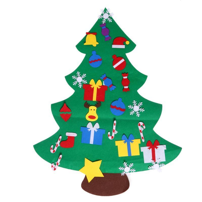 Großhandel Kinder Diy Stereo Filz Weihnachtsbaum Mit Dekorationen ...