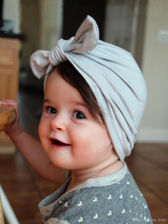 Baby Baby Girls Hair Bows Hat Newborn Crochet Beanie Hats Head Wraps