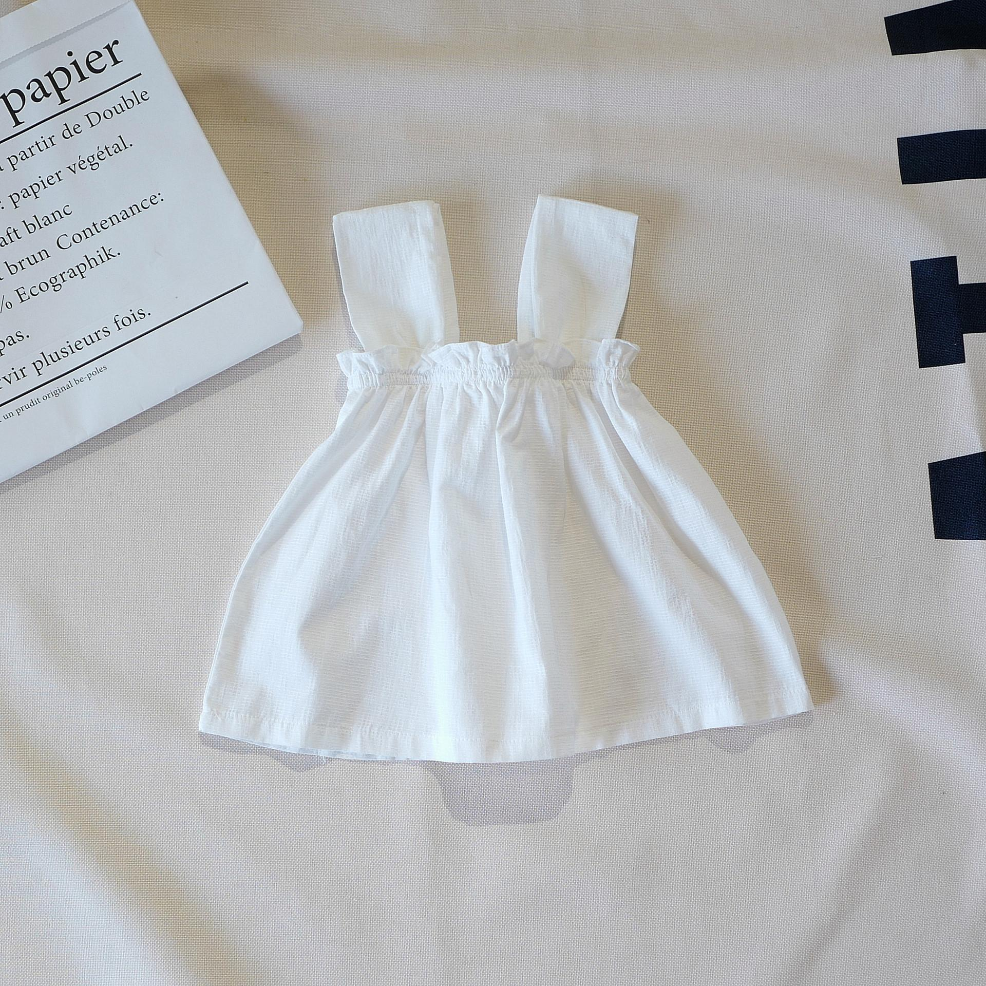 f85eb79ae 2019 Baby Girl Clothing Dress 100% Cotton Solid Color Design Girl ...