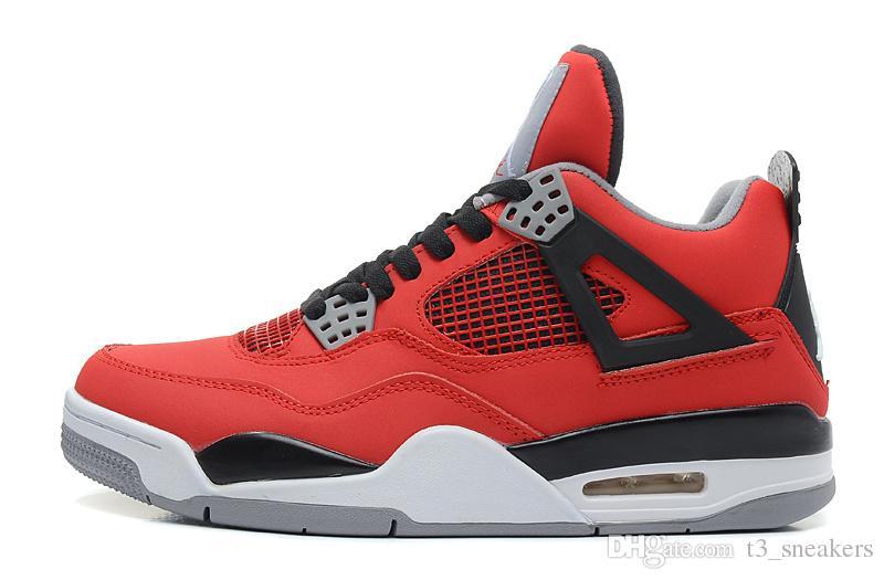 official photos 0fdb6 4031a Acheter NIKE Jordan 4 Retro Basketball shoes Drop Shipping En Gros Nouvelle  Arrivée 4 Noir Daim Chaussures Occasionnelles J 4 Banned Cristal Semelle ...