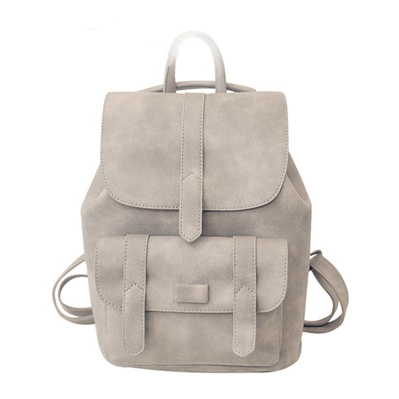 542a1bbbea Fashion Backpack Women Backpacks Solid Vintage Girls School Bags For Teen  Girls Black PU Leather Bolsa Shoulder Bag Bagpack Travel Backpack Cute  Backpacks ...