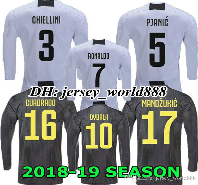5e390b7b031 2019 BONUCCI RONALDO 18 19 Long Sleeves Jersey CR7 Home Soccer 2018 2019  CUADRADO CHIELLINI MANDZUKIC Juventus 3RD FOOTBALL Shirt DYBALA MATUIDI  From ...