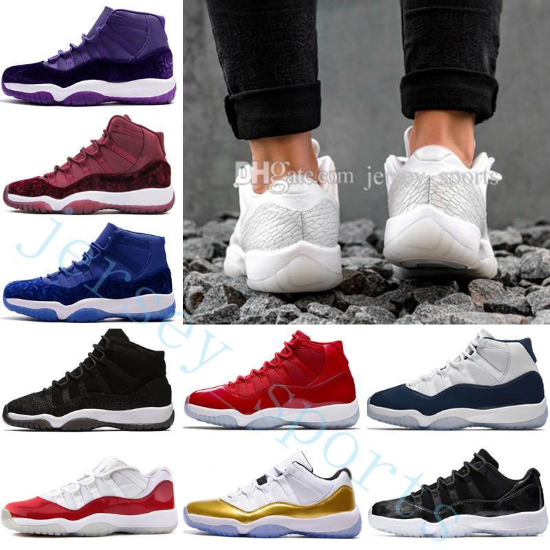 55809a4d1b4076 2019 11 XI 11s Gym Red Midnight Navy Space Jam 45 Bred Gamma Blue  Basketball Shoes Men Women 11s GS Concords 72 10 Legend Blue Cool Grey  Sneakers From ...