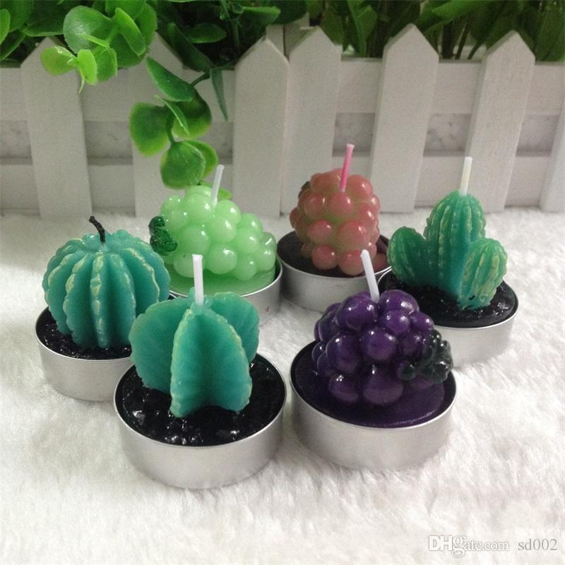succulent plants flameless candle potted plant cactus shape candle scented christmas decorations party supplies 1 3yh gg decorative candles designer candles - Cactus Christmas Decorations