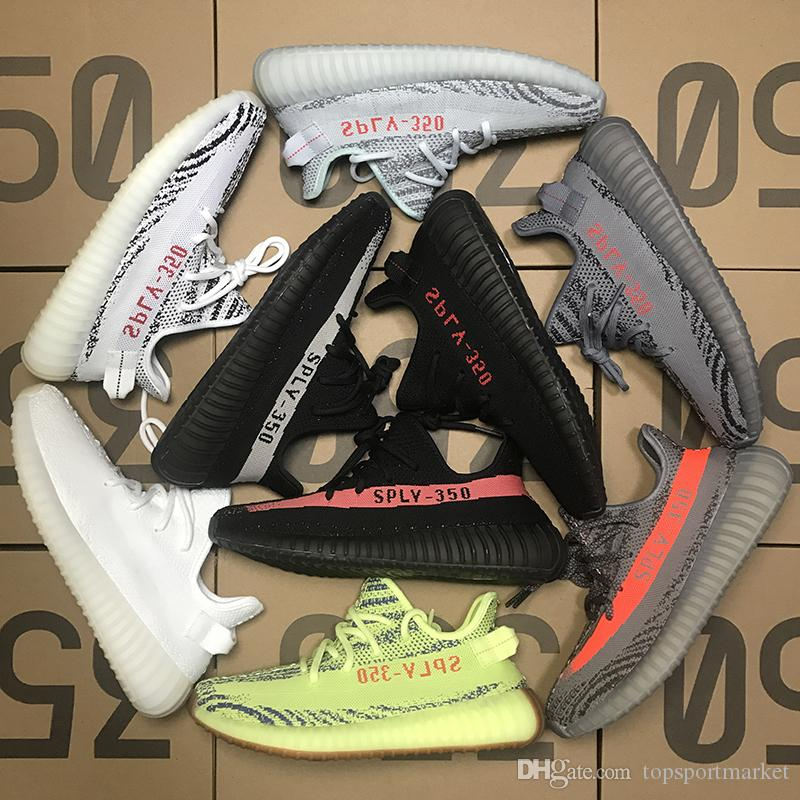 2018 Blue Tint 350 V1 V2 Frozen Yellow Beluga 2.0 Zebra Turtle Dove Pirate Black Cream White Sports Womens Mens Running Shoes