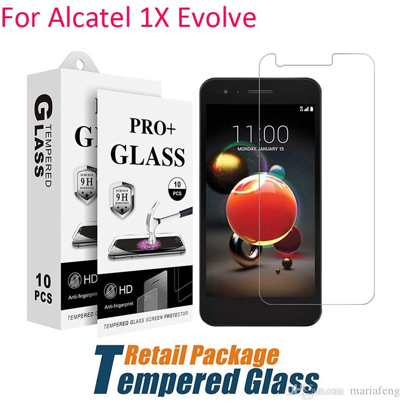For Alcatel 1X Evolve Ideal xtra 5059R Tempered Glass Kyocera Duraforce Pro  E6820 E6810 E6830 Screen Protector Film With Paper Package