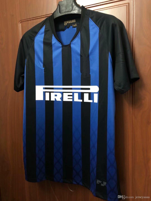 2019 Top AAAA Quality 2018 19 Inter Home Soccer Jersey Football Shirt  JOVETIC ICARDI PALACIO KONDOGBIA MEDEL CANDREVA Jovetic Jersey Shirt From  Jerseyaaaa c1f566cf5