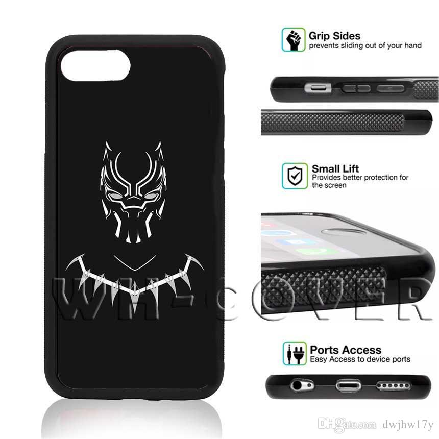 brand new 065e9 1e6c8 Black Panther Wakanda Avengers 3 3 Phone Case For iPhone iX i5/6/7/8 Plus SE