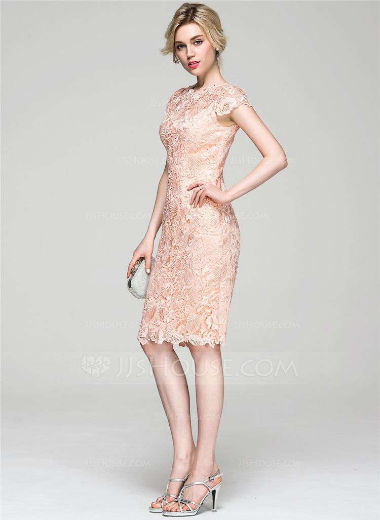 Short pink lace Cocktail Dress Sheath Women cheap Party Dresses 2018 New Arrival hot sexy Evening Party Dress prom Gown