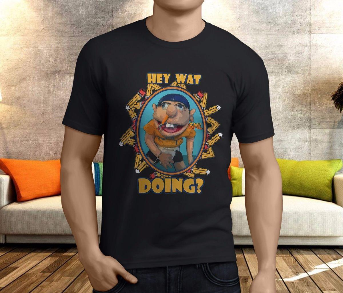 65dea5751162 New Cool SML JEFFY Youth Men'S Black T Shirt Size S 3XL Create T ...