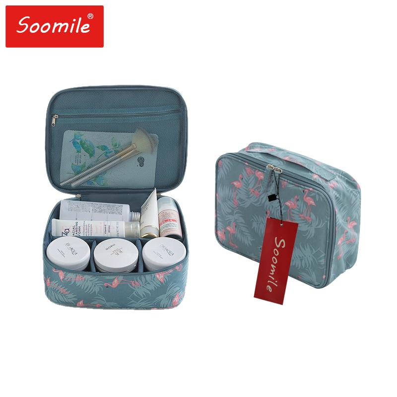 abffb3b6f2da Soomile Brand Makeup Bags 2018 New Fashion 300D Oxford Women Makeup Bag  Cosmetic Case Make Up Organizer Travel Toiletry Bag UK 2019 From Godefera