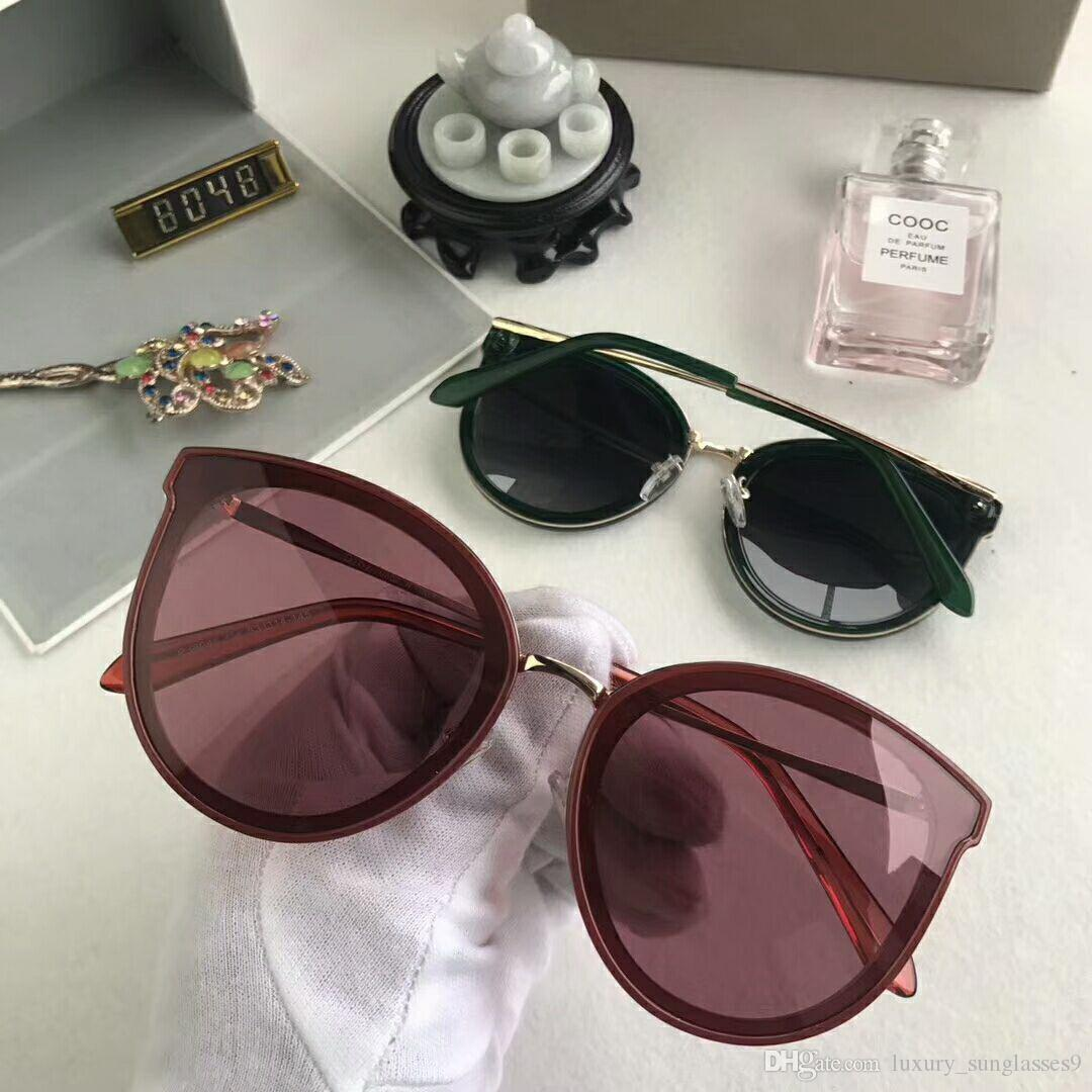 2846c697e8 Popular Sunglasses Luxury Women Brand Designer 0084S Round Summer Style Cc Full  Frame Top Quality UV Protection Mixed Color With Box  8048 Glasses Online  ...
