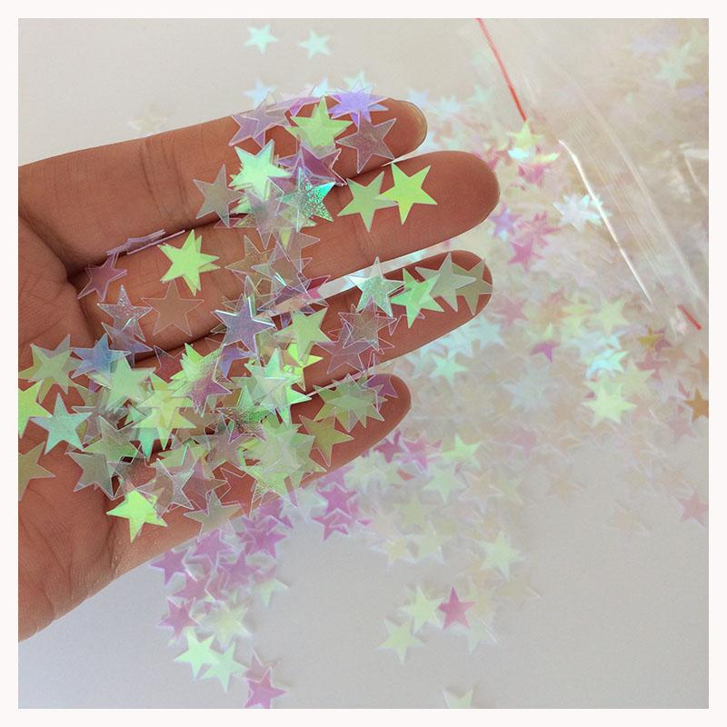 2018 10mm iridescent sparkle star wedding bridal shower anniversary engagement confetti table decoration also ideal for crafts from suozhi1992