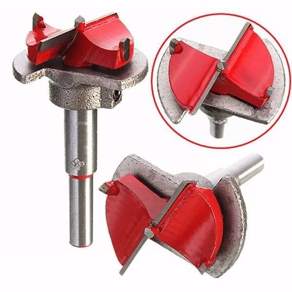 Positioning Wood Drill Bit Reamer 35mm Carbide Tipped Hinge Cutter Used for opening wooden products