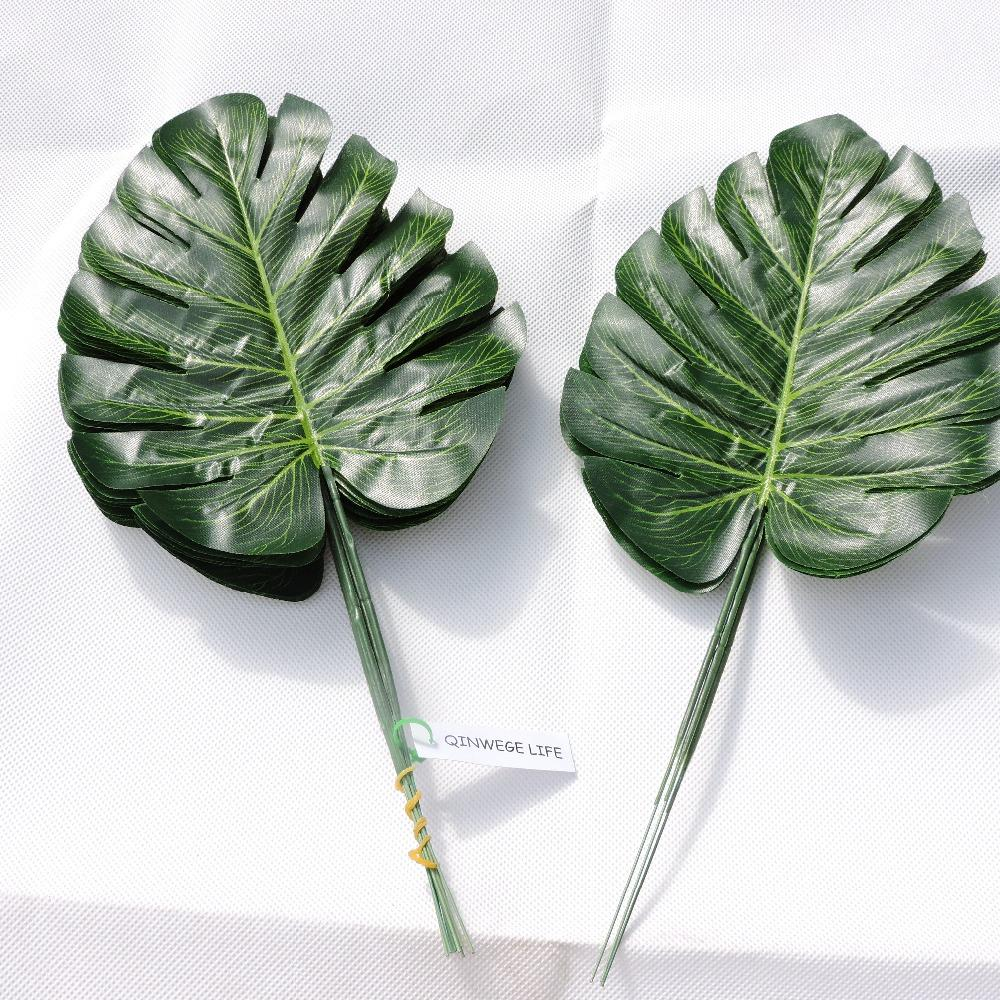 Online Cheap Artificial Monstera Turtle Leaf Wall Plant Tree Branch ...