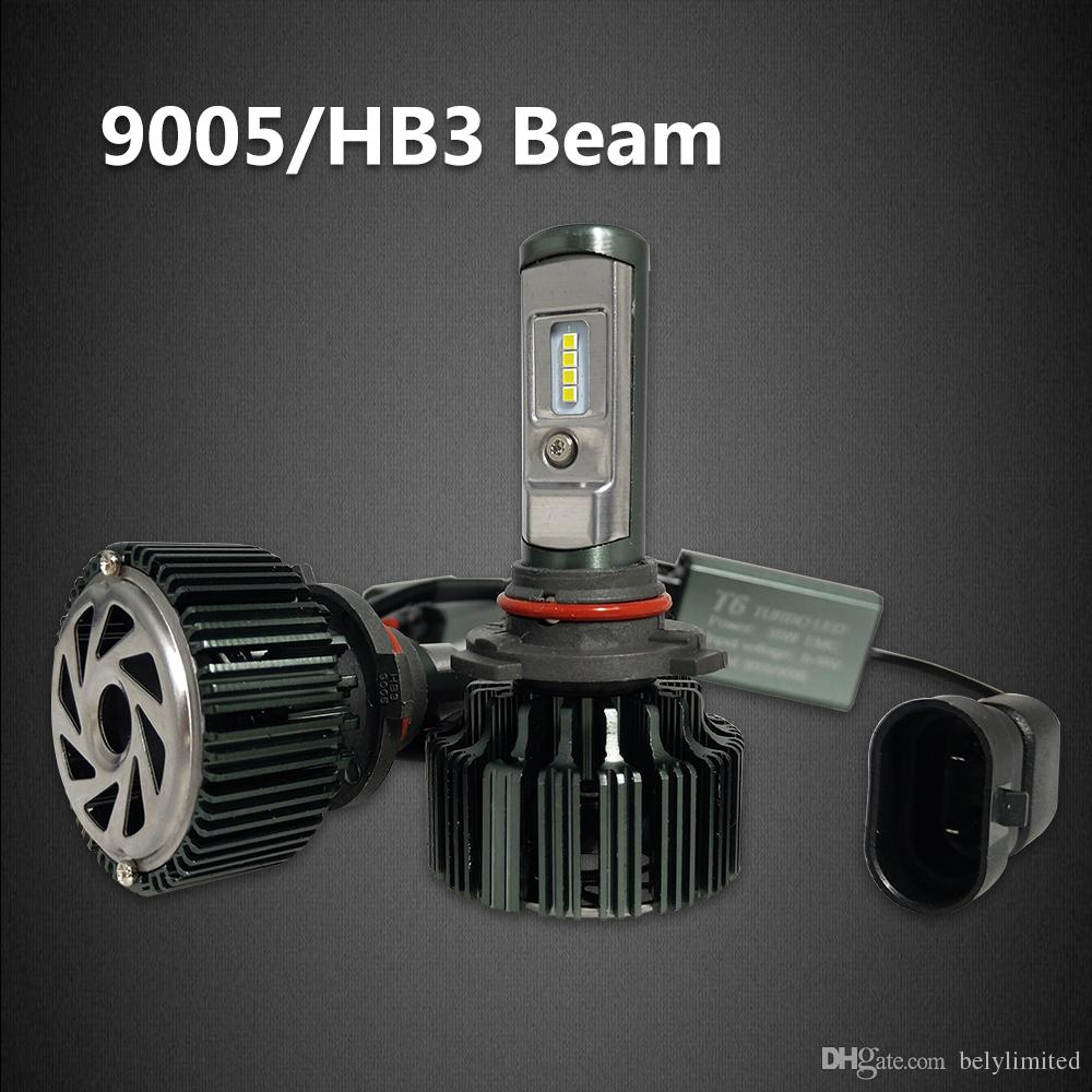 T1 Upgrade Edition Car T6 Turbo LED العلوي لمبة أطقم 60W 8000LM H1 H4 H7 H11 HB3 HB4