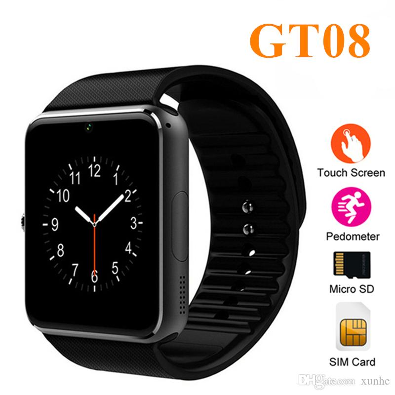 0e4a82ffe 2018 Newest GT08 Smart Watch Support SIM And TF Card Bluetooth ...