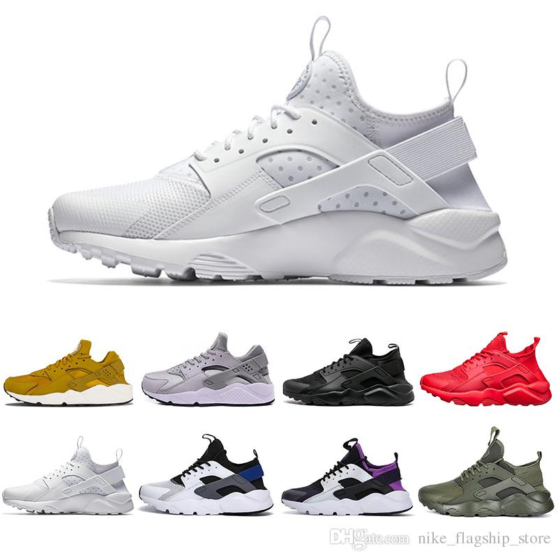 dac2e39d61ea 2018 New Huarache 1.0 4.0 Classical Triple White Black Red Men Women  Huarache Designer Shoes Huaraches Sports Sneakers Running Shoes 36 45  Sports Shoes For ...